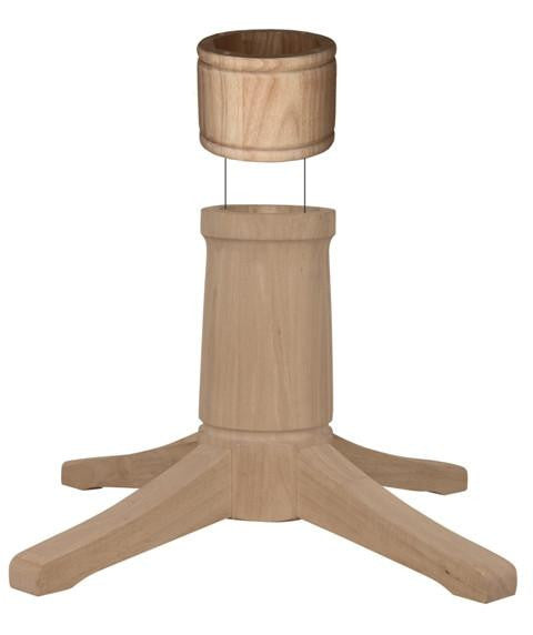 "Contemporary Dining Hardwood Pedestal - 8"" Diameter (Height Options) - UnfinishedFurnitureExpo"