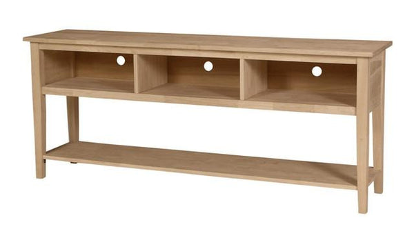 "Hardwood TV Console - 72"" - UnfinishedFurnitureExpo"