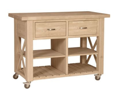 Unfinished Furniture Expo Unfinished X Side Kitchen Island ...
