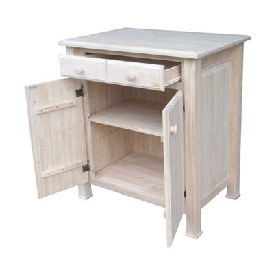 "Solid Hardwood Kitchen Work Center - 32"" x 22"" - UnfinishedFurnitureExpo"
