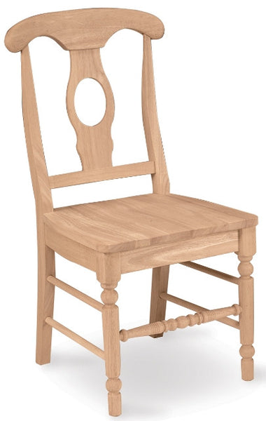Empire Hardwood Dining Chair with Wood Seat - 2 Pack - UnfinishedFurnitureExpo