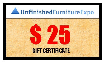 $25 Gift Certificate - UnfinishedFurnitureExpo
