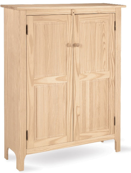 "Hardwood Double Jelly Cabinet - 39"" - UnfinishedFurnitureExpo"