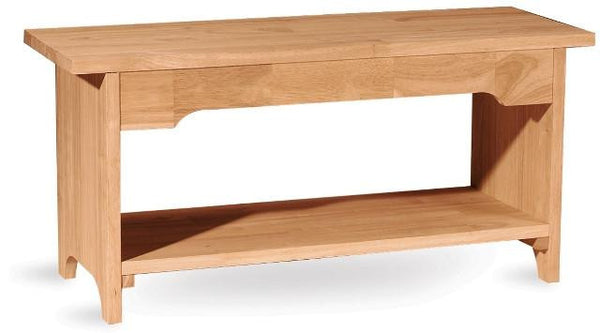 "Brookstone Hardwood Bench - 36"" - UnfinishedFurnitureExpo"
