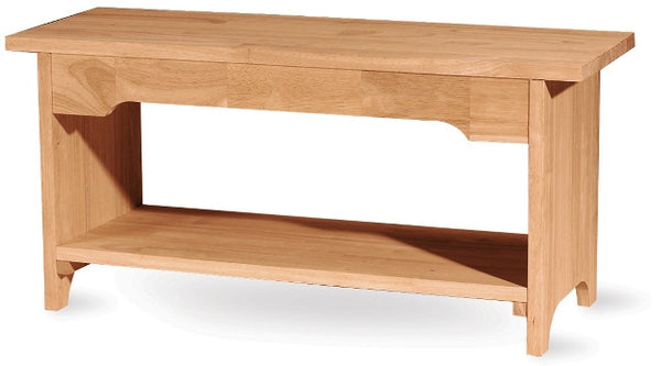 "Brookstone Hardwood Bench - 60"" - UnfinishedFurnitureExpo"