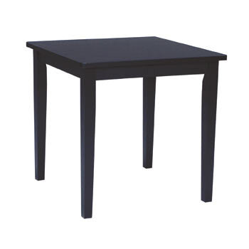 Solid Wood Casual Dining Table - Black - UnfinishedFurnitureExpo