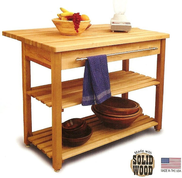 Contemporary Harvest Table Kitchen Island - UnfinishedFurnitureExpo