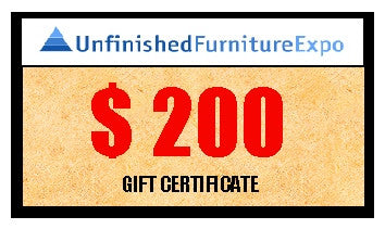$200 Gift Certificate - UnfinishedFurnitureExpo