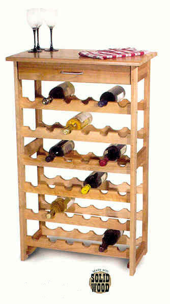 Catskill Craftsmen Wine Rack w/36 Bottle Storage - UnfinishedFurnitureExpo