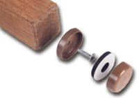 """Forever Glides"" Self-Leveling Floor Protectors for Wood Furniture 1-1/4"" DARK OAK (4-Pack) - UnfinishedFurnitureExpo"