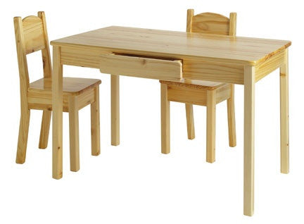 Arts & Crafts Table & 2 Open Chairs Set - UnfinishedFurnitureExpo