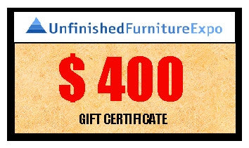 $400 Gift Certificate - UnfinishedFurnitureExpo