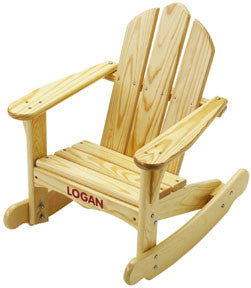 Solid Pine Child's Adirondack Rocking Chair - UnfinishedFurnitureExpo