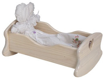 Unfinished Furniture Expo Solid Pine Doll Cradle
