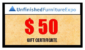 $50 Gift Certificate - UnfinishedFurnitureExpo