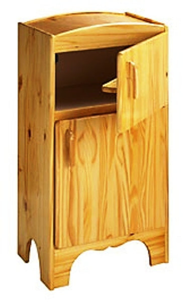 Solid Pine Children's Refrigerator - UnfinishedFurnitureExpo