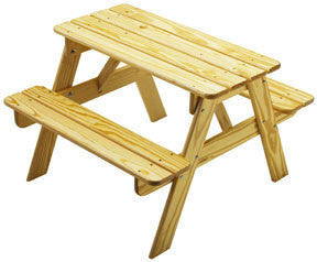 Solid Pine Picnic Table - UnfinishedFurnitureExpo
