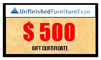 $500 Gift Certificate - UnfinishedFurnitureExpo