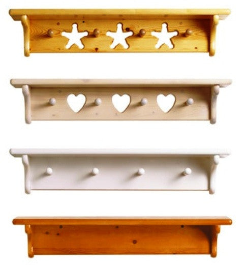 Unfinished Furniture Expo Solid Pine Wall Shelves with Peg