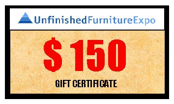 $150 Gift Certificate - UnfinishedFurnitureExpo