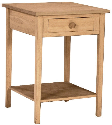 Unfinished Furniture Expo Unfinished Hardwood Bedside Table/Night Stand
