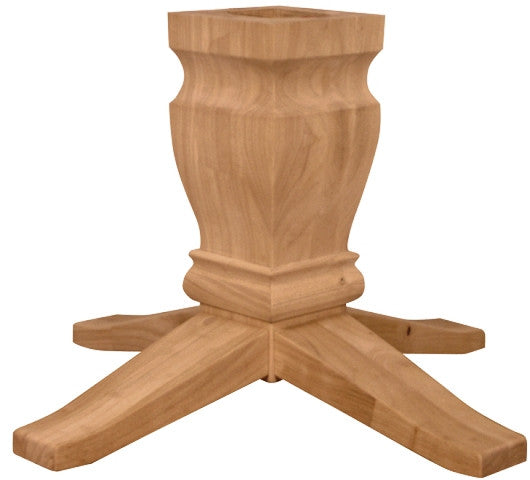 "9"" Unfinished Large Hardwood Square Dining Table Pedestal - UnfinishedFurnitureExpo"