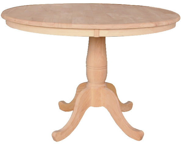 "Solid Hardwood 42"" Round Dining Table"