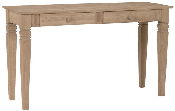 "Java Desk/Sofa Table with 2-Drawers - 52"" - UnfinishedFurnitureExpo"