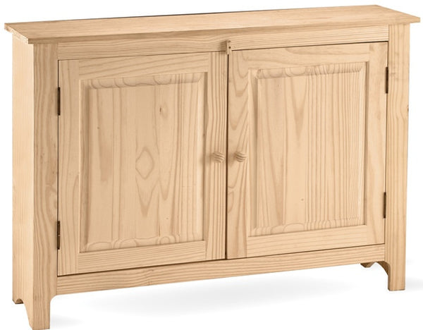 Solid Hardwood 2-Door Linen Press - UnfinishedFurnitureExpo