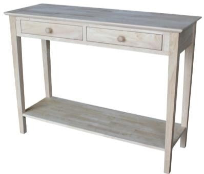 "Spencer Hardwood Server/Sofa Table - 48"" - UnfinishedFurnitureExpo"