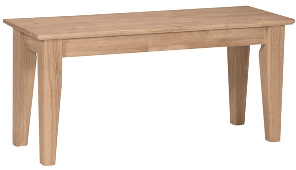 "39"" Vineyard Hardwood Shaker Bench - UnfinishedFurnitureExpo"