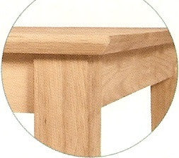"Hardwood Shaker Butterfly Leaf Counter Height Table - 48"" (Choose Height & Finish) - UnfinishedFurnitureExpo"