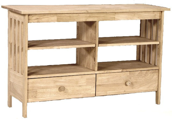 Unfinished Furniture Expo Mission Hardwood TV Stand/Entertainment Center