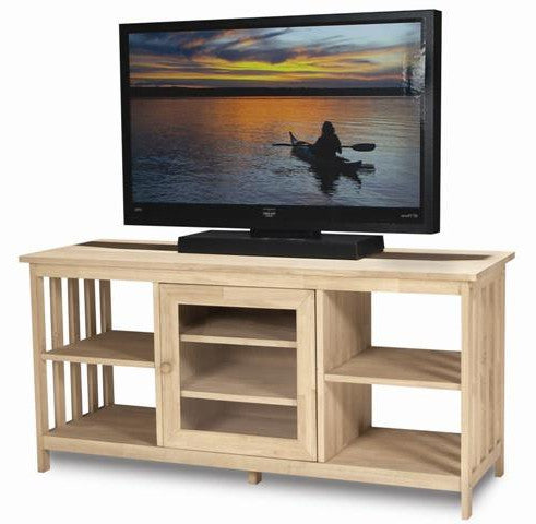 Hardwood Mission Entertainment Stand - UnfinishedFurnitureExpo