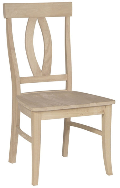 """Verona"" Unfinished Hardwood Dining Chair (2-Pack) - UnfinishedFurnitureExpo"