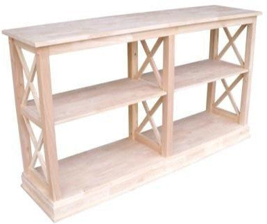 "Hampton X-Sided Hardwood Sofa Table - 60"" (Finished Options) - UnfinishedFurnitureExpo"