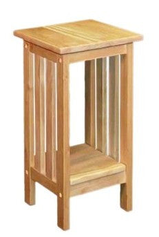 "24"" Tall Hardwood Mission Accent Table - UnfinishedFurnitureExpo"