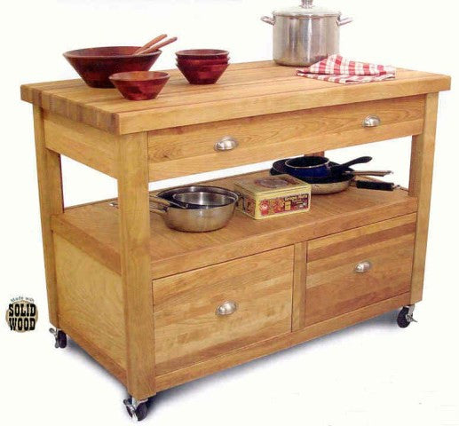 Grand Americana Workcenter Kitchen Island - UnfinishedFurnitureExpo