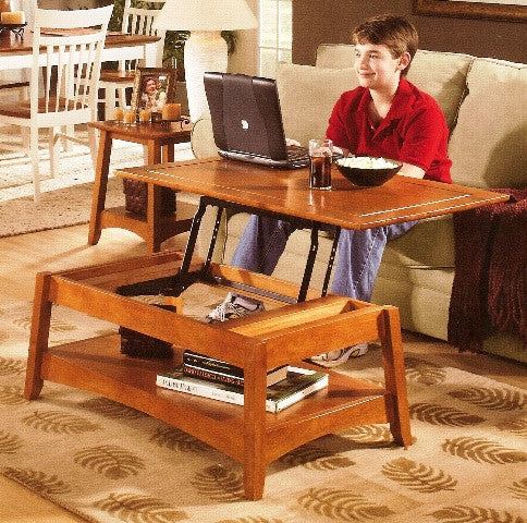 "Bombay Lift Top Coffee Table - 40"" - UnfinishedFurnitureExpo"
