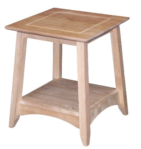 "Bombay End Table - 18"" - UnfinishedFurnitureExpo"