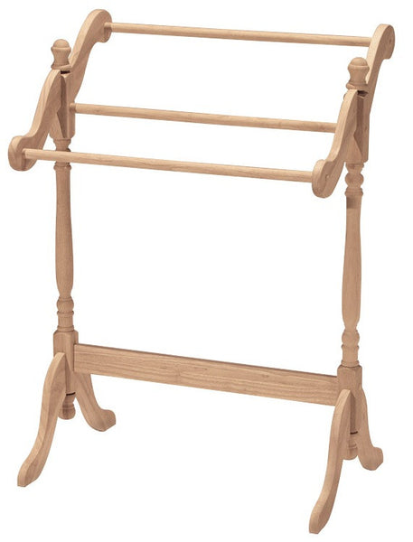 "Hardwood Quilt Rack - 29"" - UnfinishedFurnitureExpo"