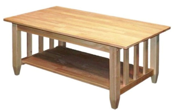 "Hardwood Mission Coffee Table - 42"" - UnfinishedFurnitureExpo"