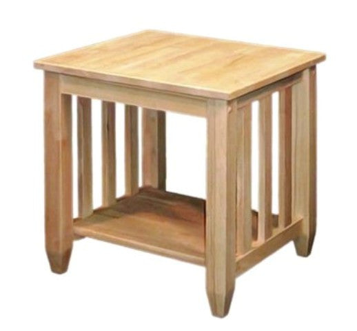 unfinished furniture expo solid hardwood tall mission end table