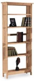 "Mission Hardwood Bookcase - 72"" Tall - UnfinishedFurnitureExpo"