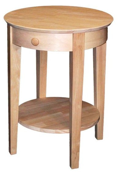 Phillips Bedside Table with Drawer - UnfinishedFurnitureExpo