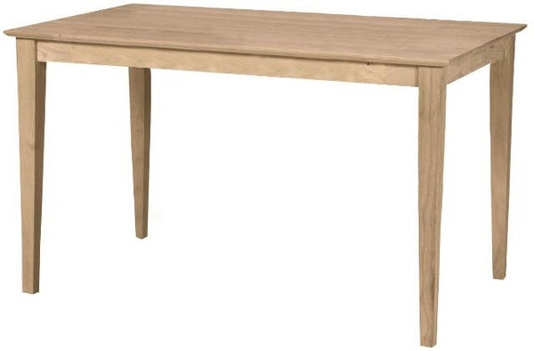 "Solid Hardwood Shaker Dining Table - 36"" x 60"" - UnfinishedFurnitureExpo"
