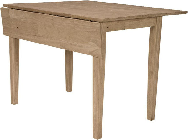Unfinished Furniture Expo Square Hardwood Drop-Leaf Shaker Table