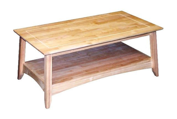 Hardwood Bombay Coffee Table - UnfinishedFurnitureExpo