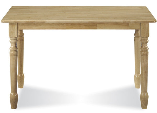 "Solid Hardwood 30"" x 48"" Dining Table - Natural - UnfinishedFurnitureExpo"