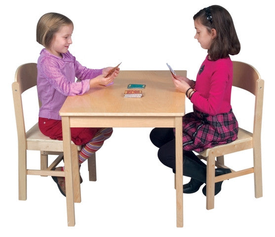 Woodscape Birch Kids Table & Chair Set - Natural Finish - UnfinishedFurnitureExpo